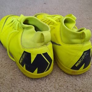 Neon Yellow Mercurial Indoor Soccer Shoes